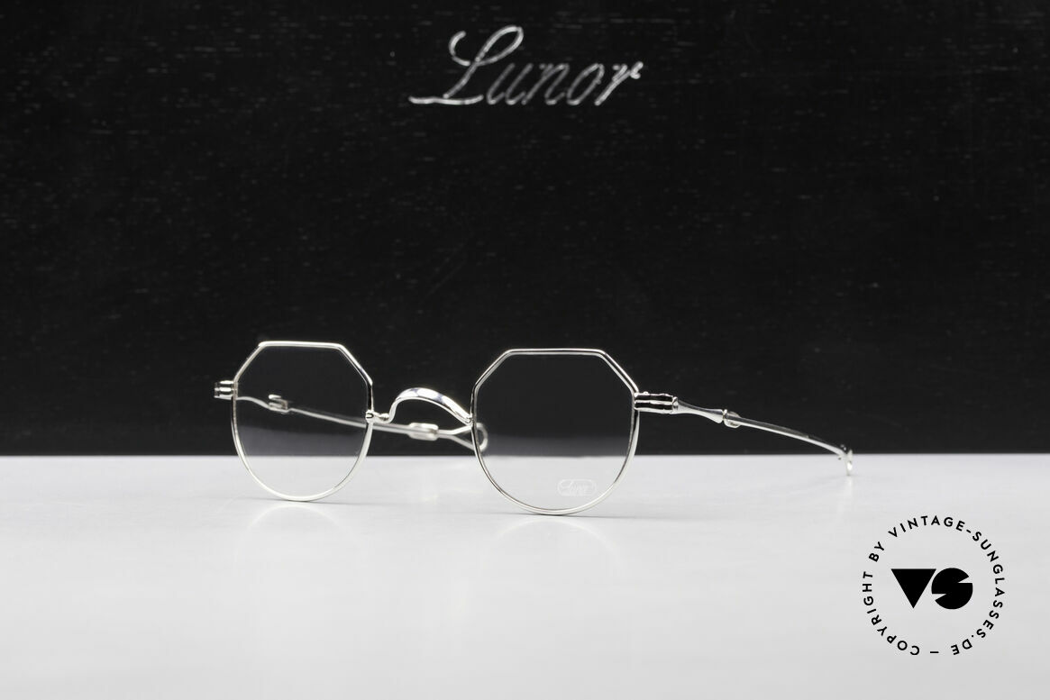 Lunor I 18 Telescopic Telescopic Platinum Frame, Size: extra small, Made for Men and Women