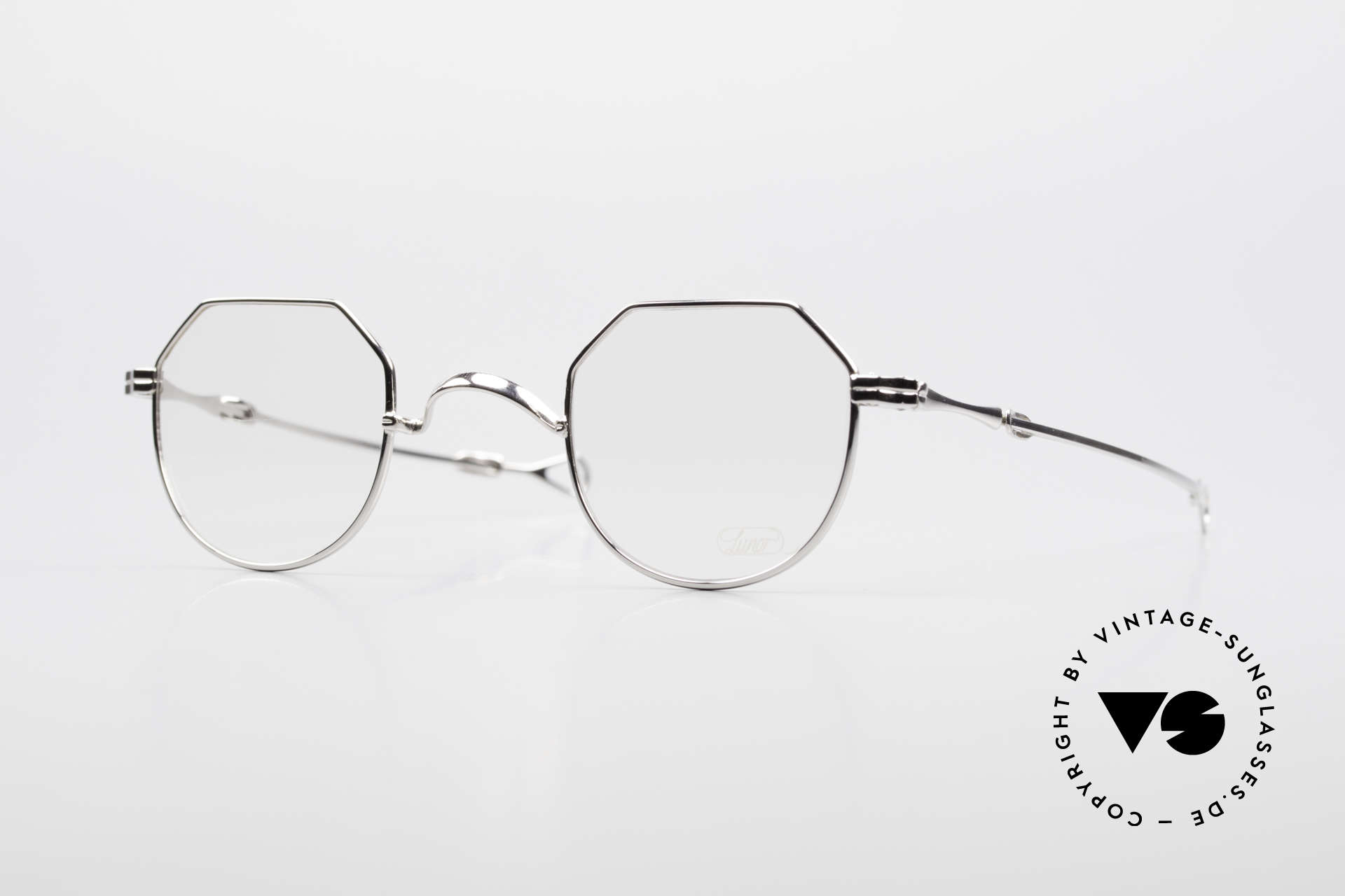 "Lunor I 18 Telescopic Telescopic Platinum Frame, old LUNOR telescopic eyeglasses or ""sliding glasses', Made for Men and Women"
