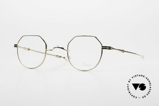 Lunor I 18 Telescopic Sliding Temples Gold Plated Details