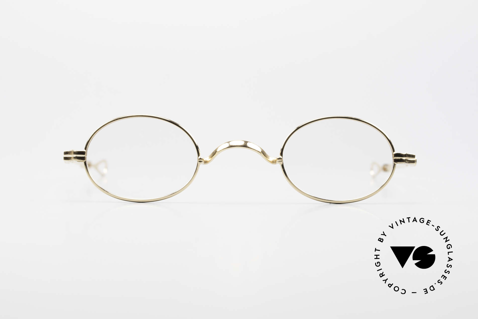 Lunor I 04 Telescopic XS Gold Glasses Slide Temples, Lunor: timeless classics, YELLOW GOLD, made in Germany, Made for Men and Women