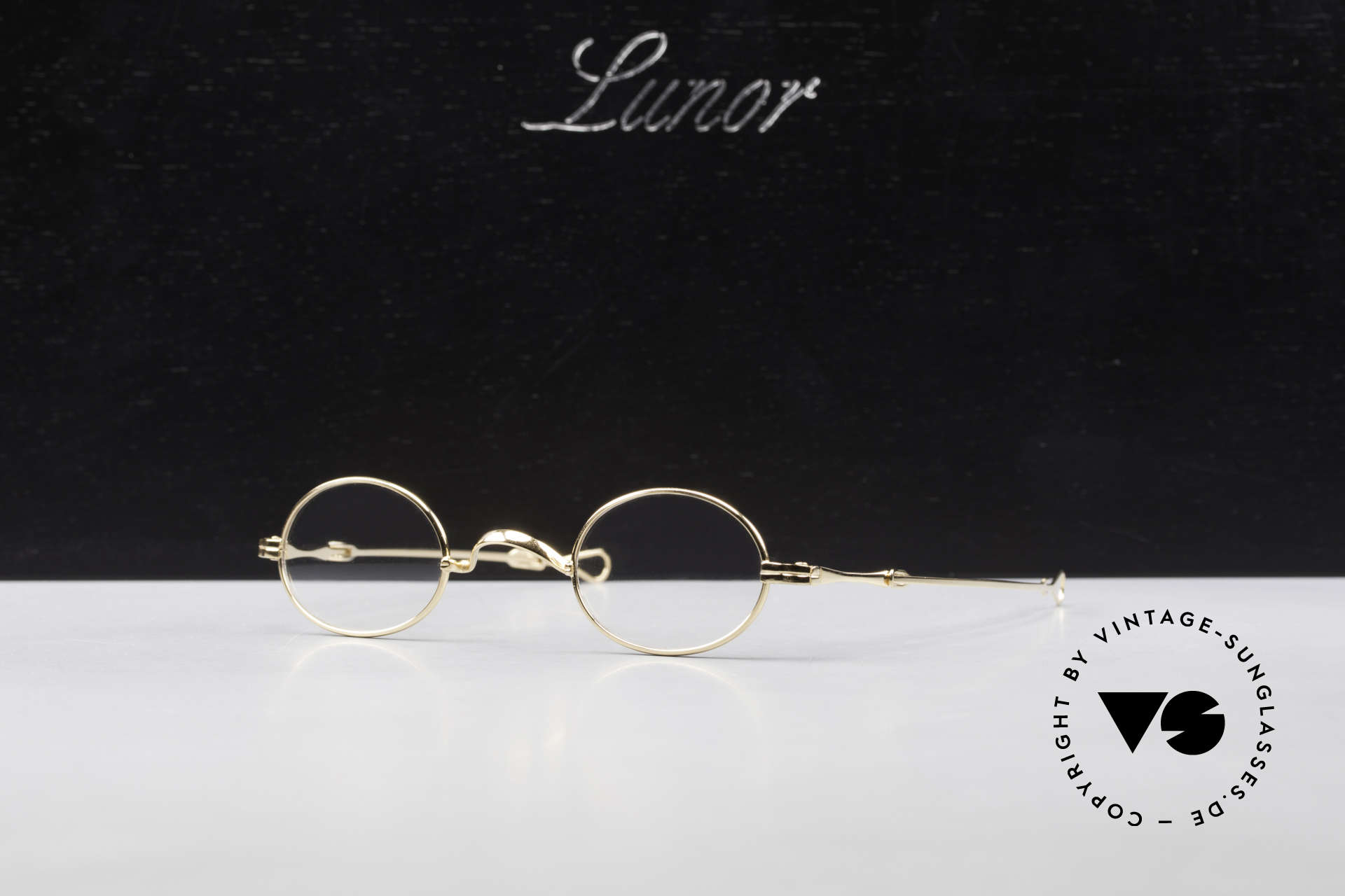 Lunor I 04 Telescopic XS Gold Glasses Slide Temples, Size: extra small, Made for Men and Women