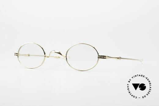 Lunor I 04 Telescopic XS Gold Glasses Slide Temples Details