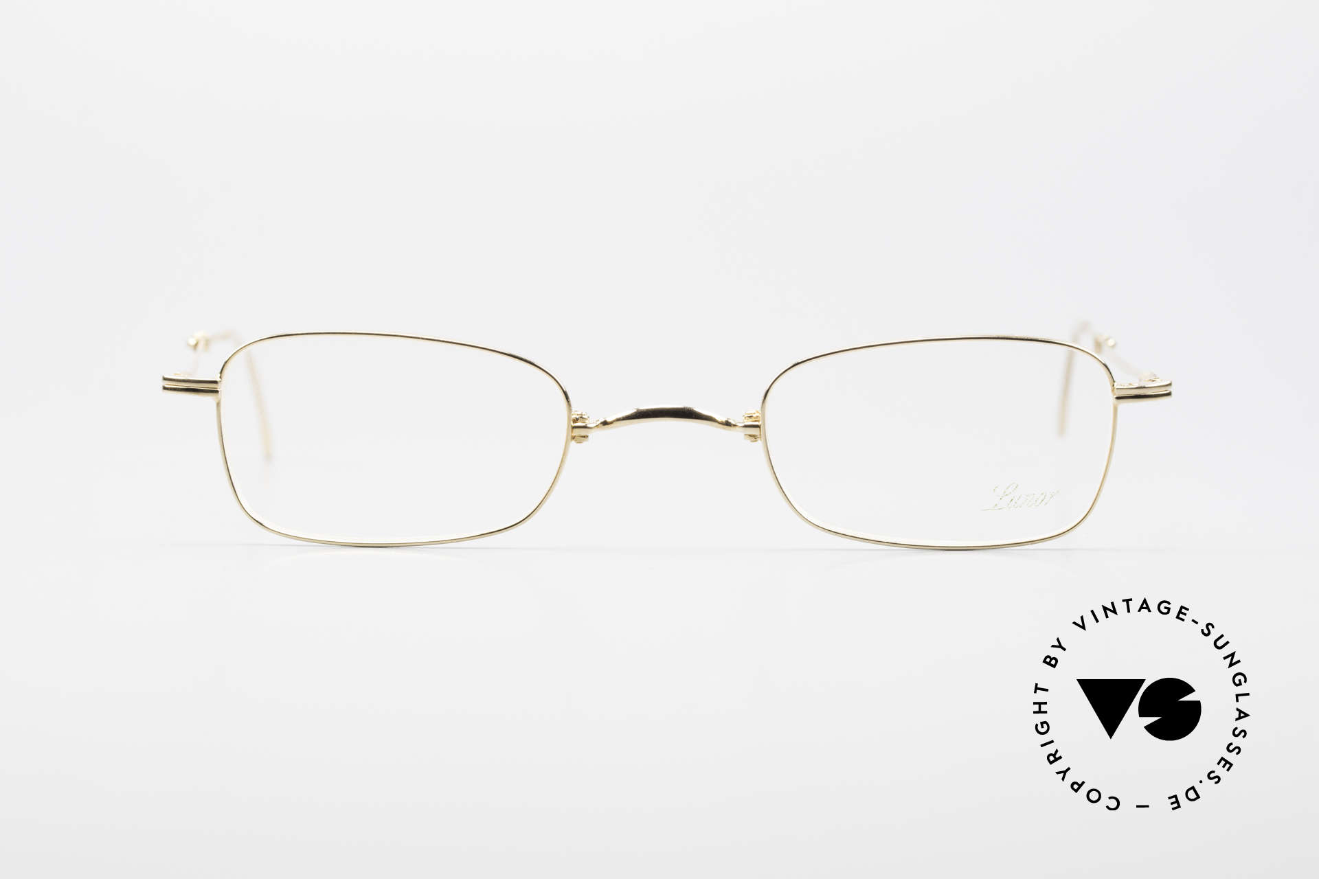 Lunor XXV Folding 02 Foldable Frame Gold Plated, traditional German brand; quality handmade in Germany, Made for Men and Women