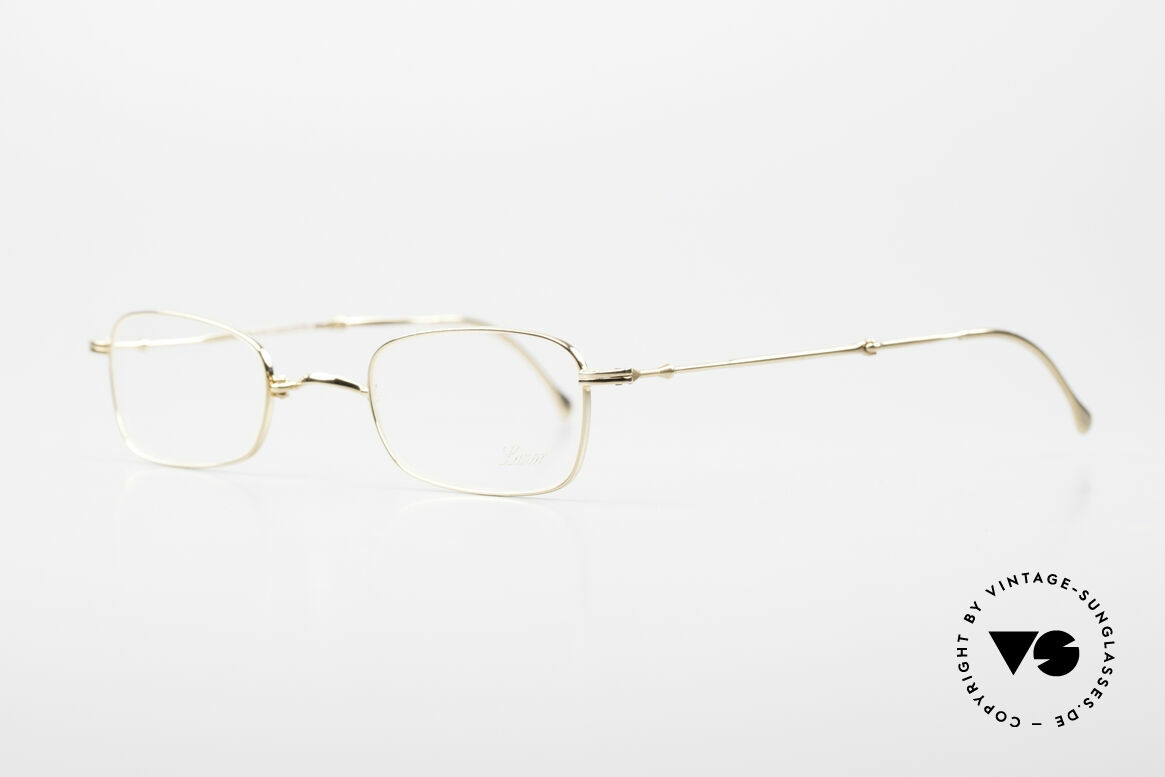 """Lunor XXV Folding 02 Foldable Frame Gold Plated, well-known for the """"W-bridge"""" & the plain frame designs, Made for Men and Women"""
