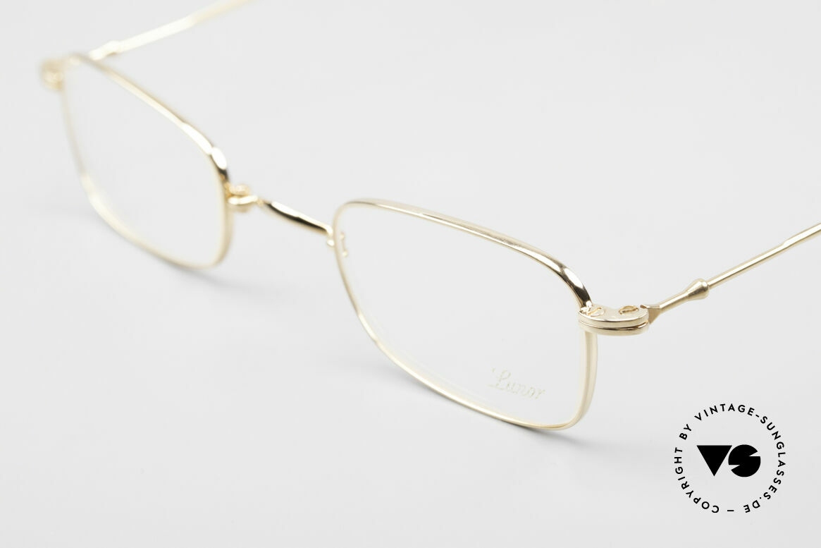 Lunor XXV Folding 02 Foldable Frame Gold Plated, the classic folding model of the XXV-series, gold-plated!, Made for Men and Women