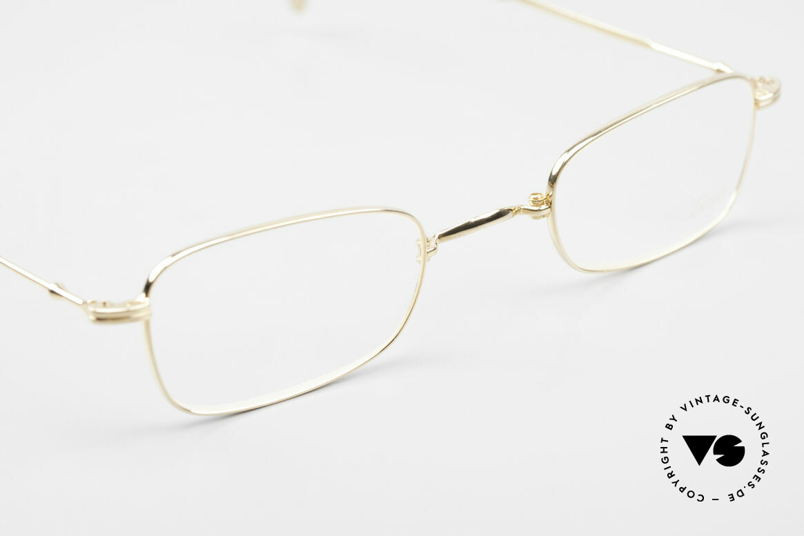 Lunor XXV Folding 02 Foldable Frame Gold Plated, unworn single item (for all lovers of quality), true RARITY, Made for Men and Women