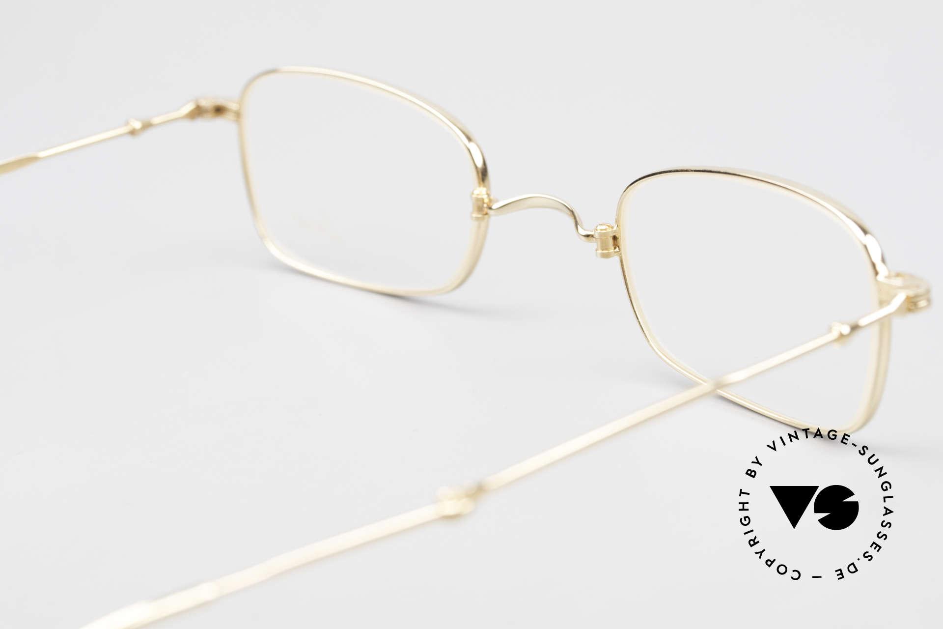 Lunor XXV Folding 02 Foldable Frame Gold Plated, NO RETRO EYEGLASSES, but a precious LUNOR ORIGINAL, Made for Men and Women