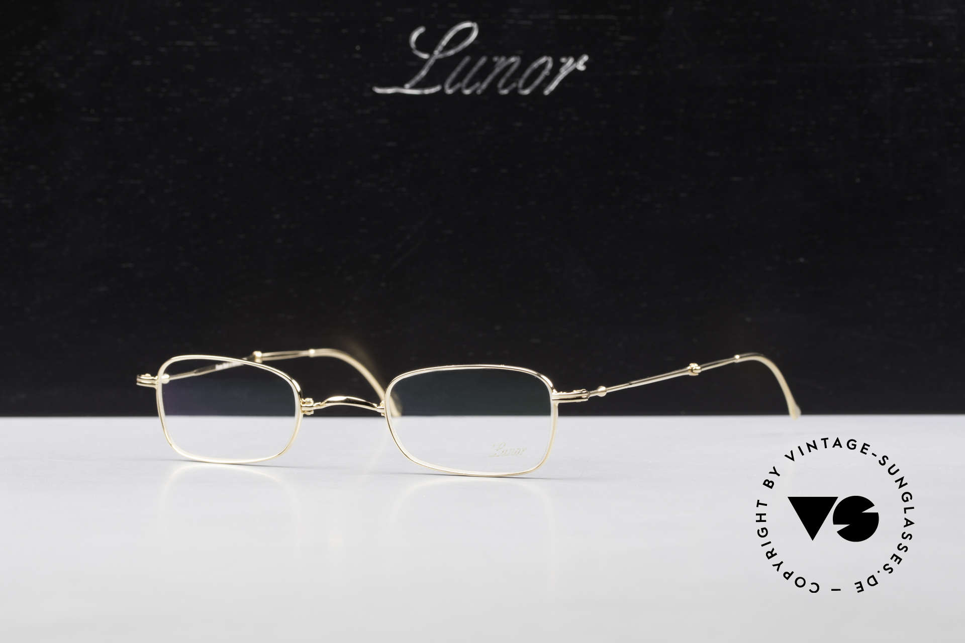 Lunor XXV Folding 02 Foldable Frame Gold Plated, Size: small, Made for Men and Women