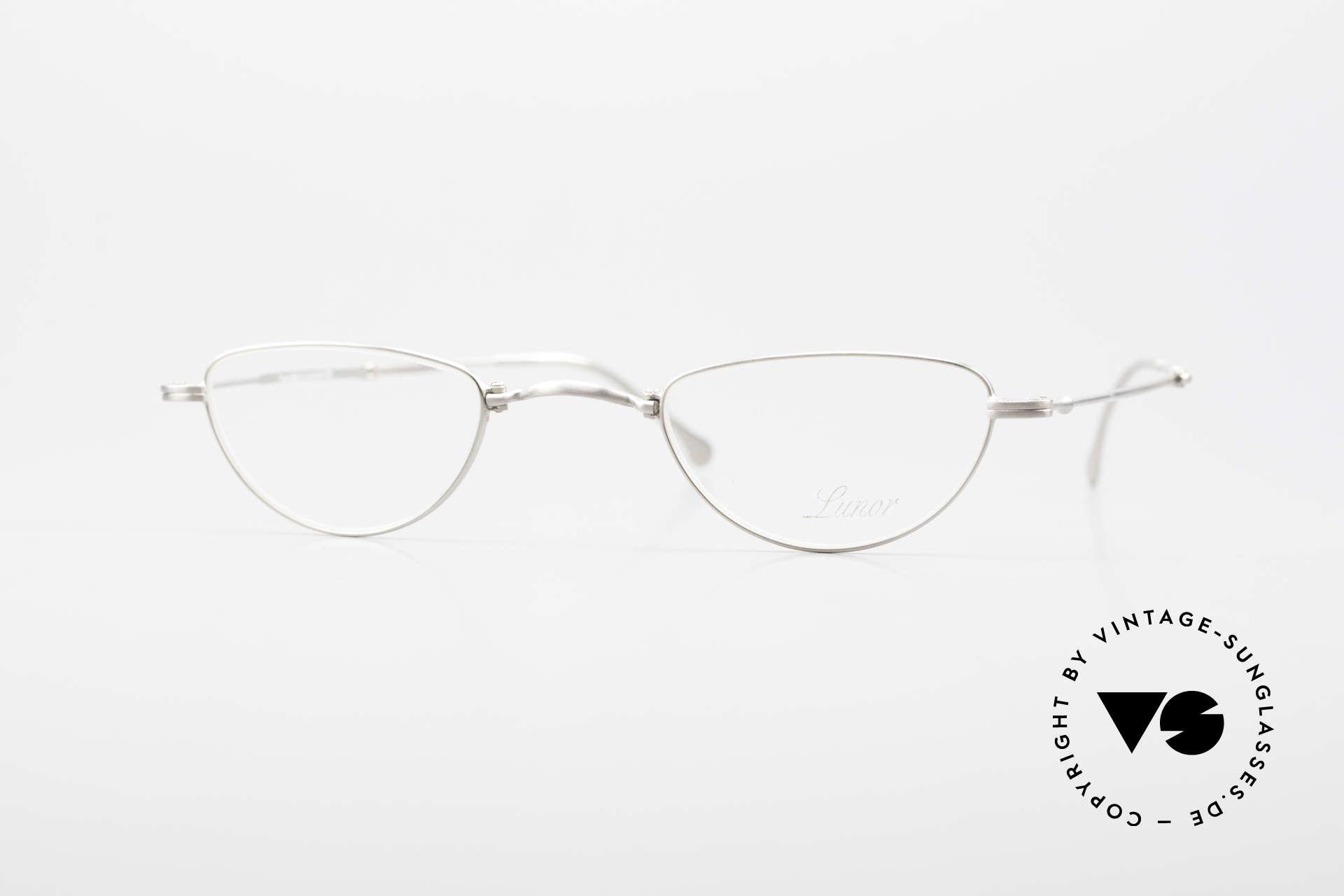 Lunor XXV Folding 06 Foldable Reading Eyeglasses, rare Lunor folding reading glasses XXV 06 in size 40/25, Made for Men and Women