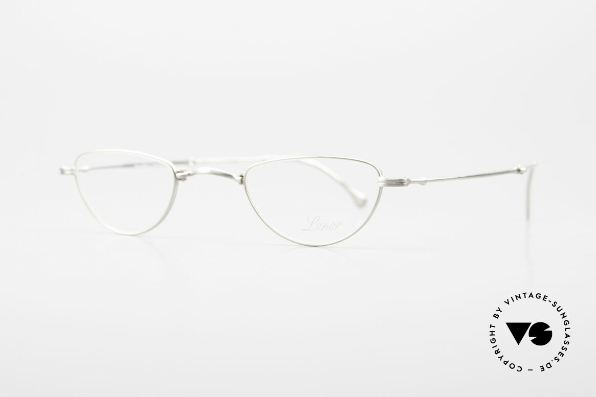 """Lunor XXV Folding 06 Foldable Reading Eyeglasses, well-known for the """"W-bridge"""" & the plain frame designs, Made for Men and Women"""