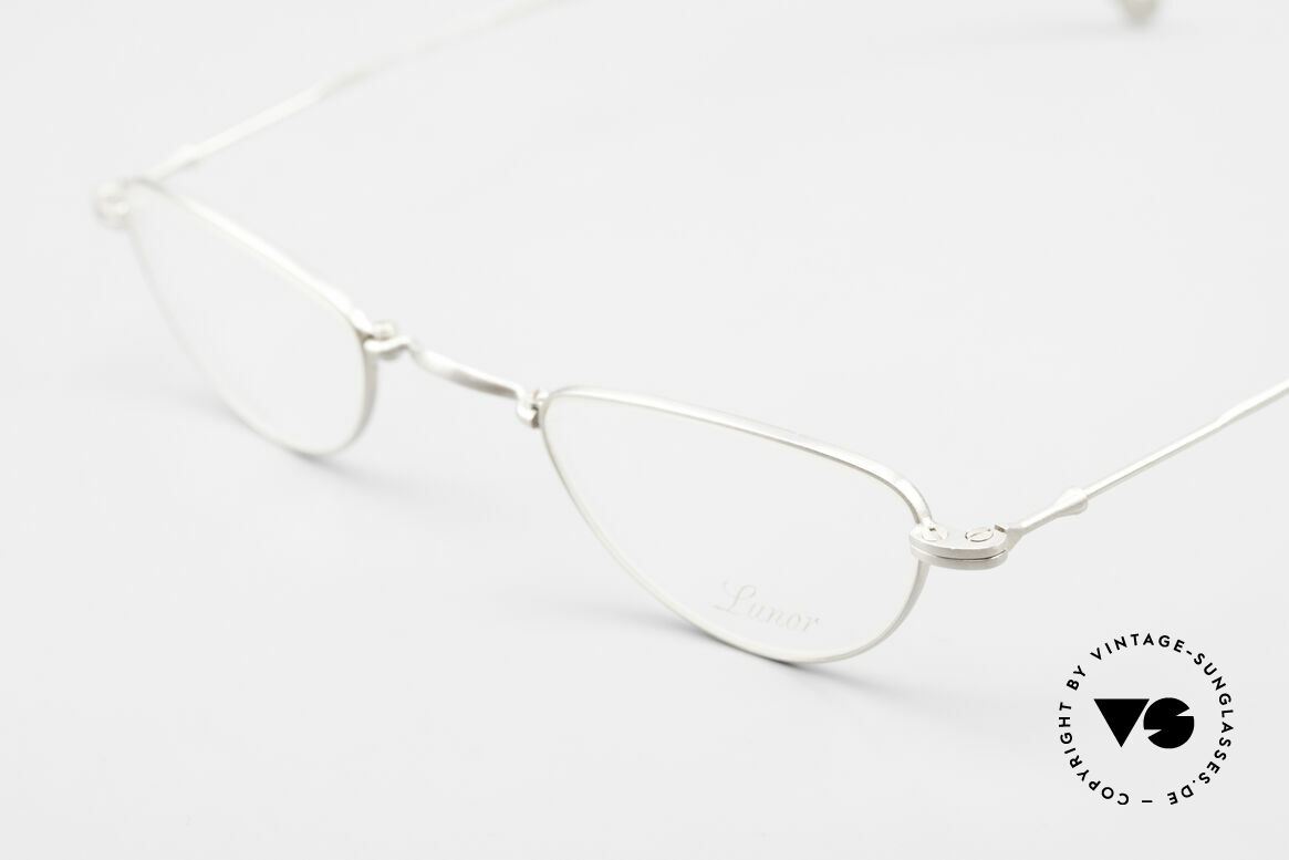 Lunor XXV Folding 06 Foldable Reading Eyeglasses, reading model of the XXV-series, PPS = platinum satined, Made for Men and Women