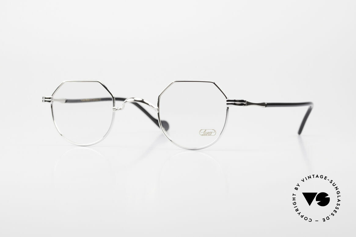 Lunor II A 18 Square Panto Frame Platinum, old Lunor glasses of the Lunor II-A series (A = acetate), Made for Men and Women