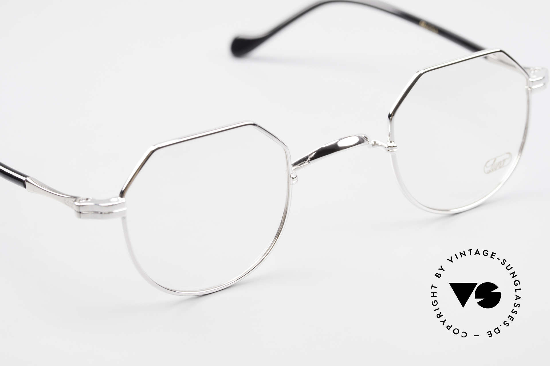 Lunor II A 18 Square Panto Frame Platinum, unworn RARITY (for all lovers of quality) from app. 2010, Made for Men and Women