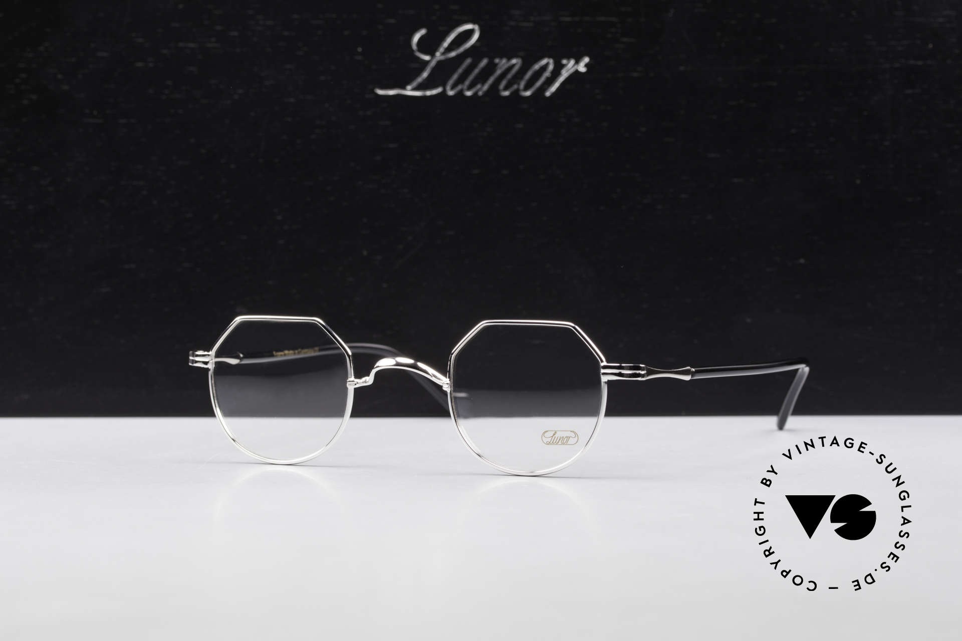 Lunor II A 18 Square Panto Frame Platinum, Size: small, Made for Men and Women