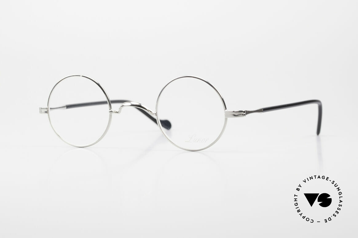 Lunor II A 12 Round Vintage Frame Platinum, round Lunor glasses of the Lunor II-A series (A = acetate), Made for Men and Women