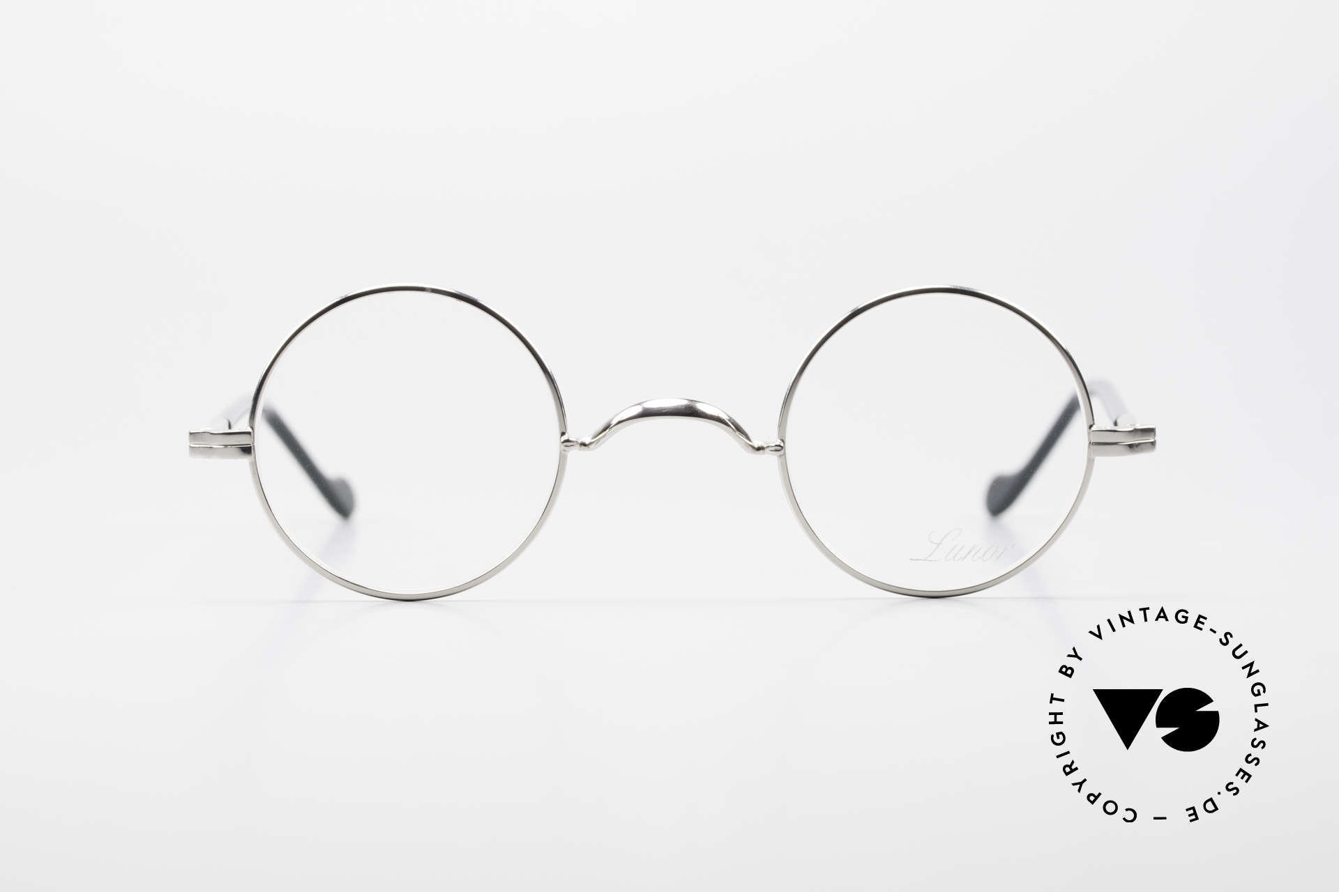 Lunor II A 12 Round Vintage Frame Platinum, combination: full rimmed metal frame & acetate temples, Made for Men and Women