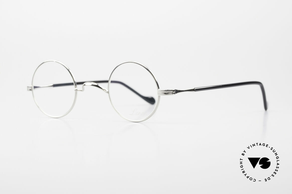 Lunor II A 12 Round Vintage Frame Platinum, precious platinum-plated, tangible TOP-NOTCH quality, Made for Men and Women