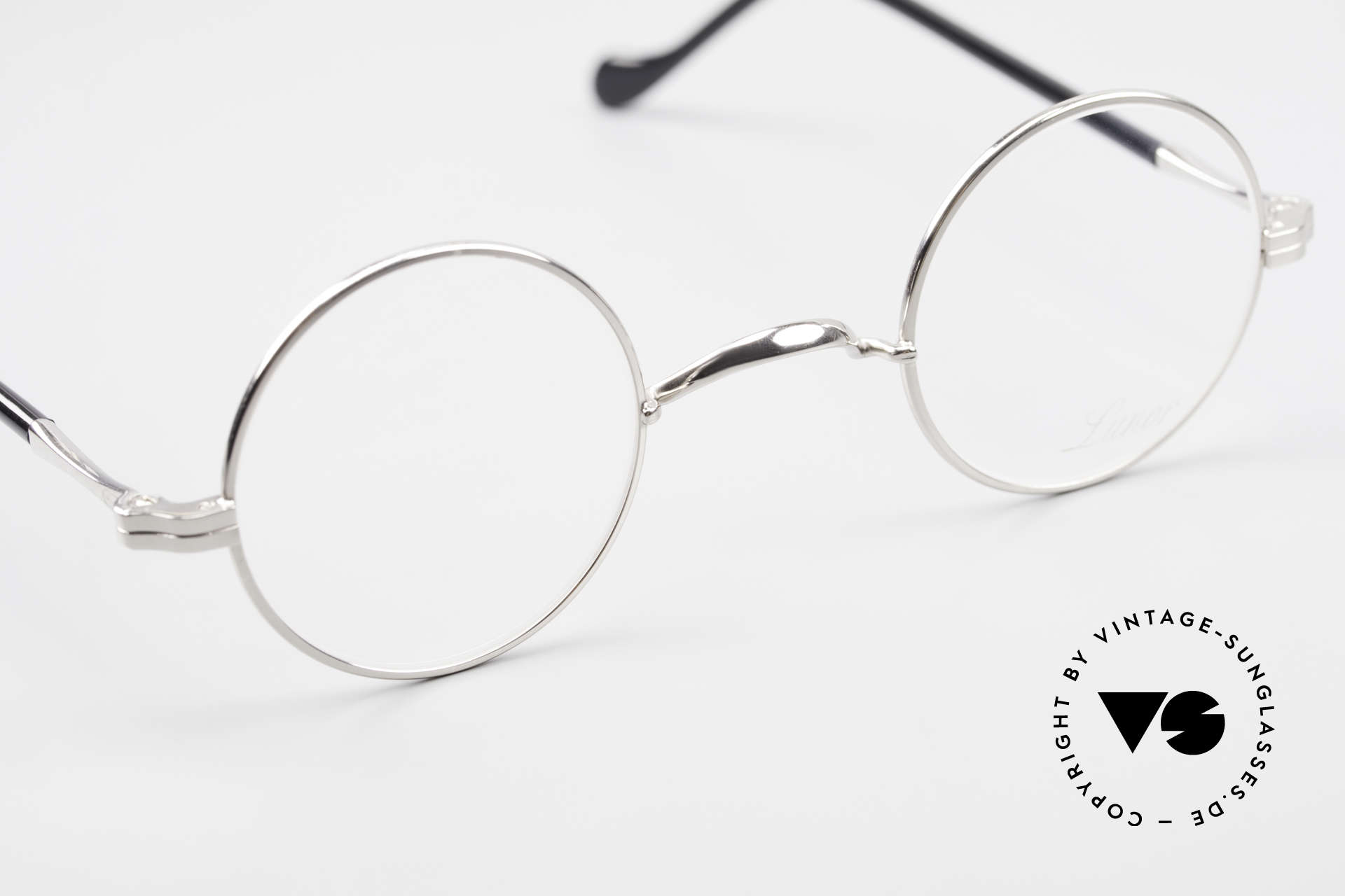 Lunor II A 12 Round Vintage Frame Platinum, unworn RARITY (for all lovers of quality) from app. 2010, Made for Men and Women