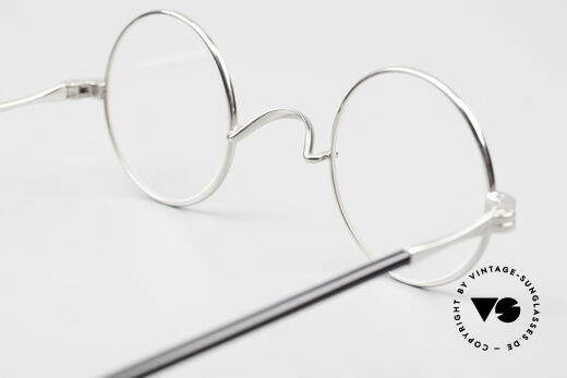 Lunor II A 12 Round Vintage Frame Platinum, DEMO lenses should be replaced with prescription lenses, Made for Men and Women