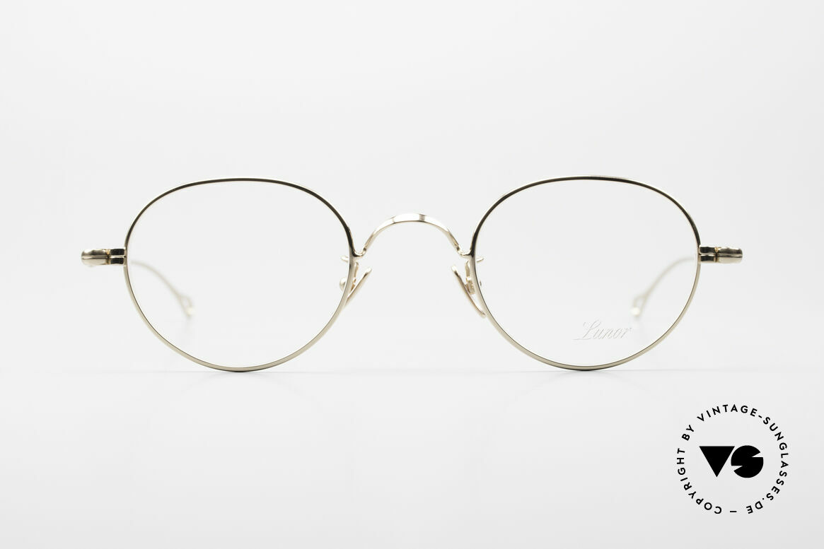 Lunor V 108 Gold Plated Glasses Titanium, without ostentatious logos (but in a timeless elegance), Made for Men