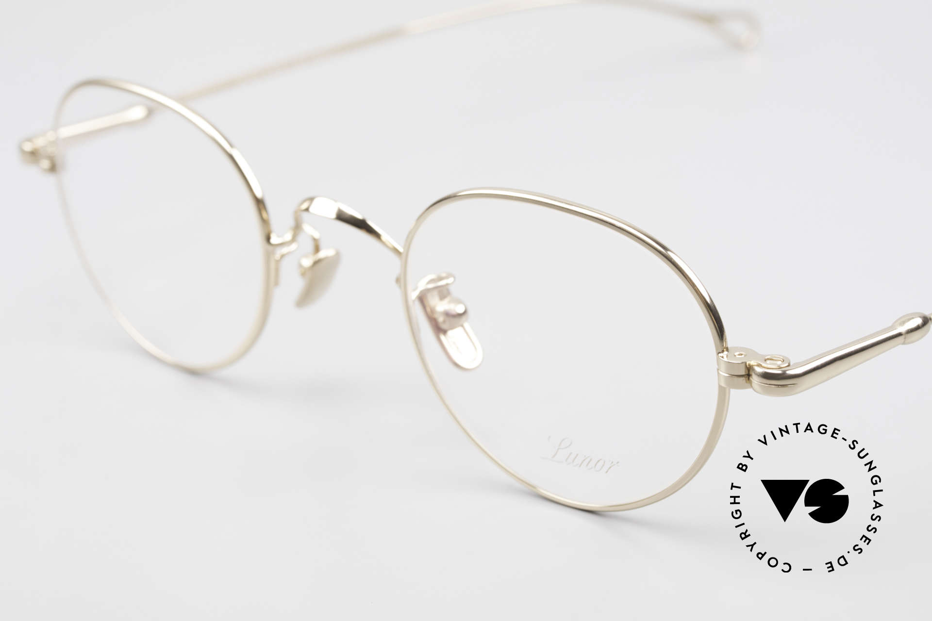 Lunor V 108 Gold Plated Glasses Titanium, from the 2011's collection, but in a well-known quality, Made for Men
