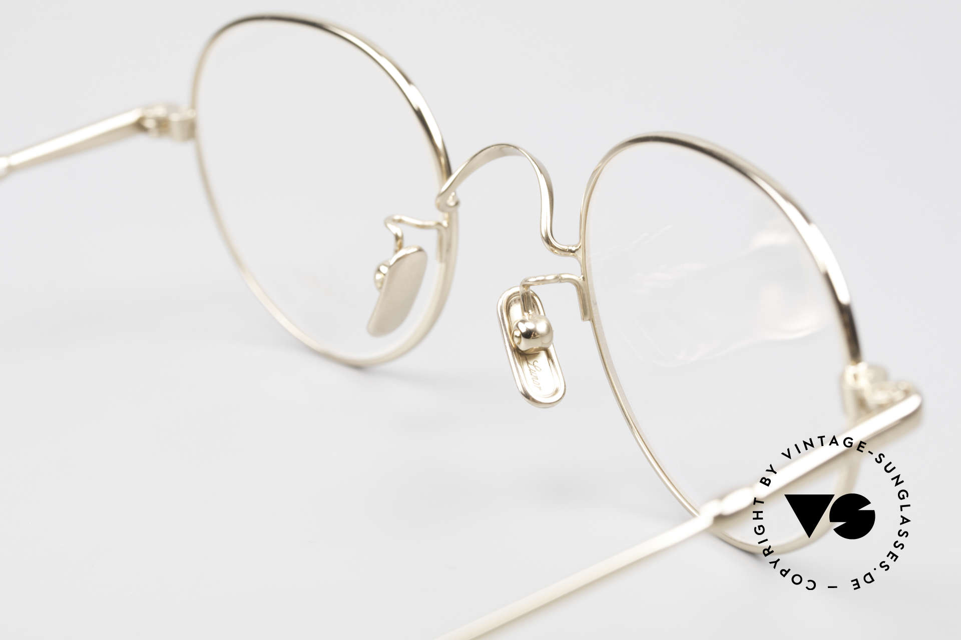 Lunor V 108 Gold Plated Glasses Titanium, the DEMO lenses should be replaced with prescriptions, Made for Men