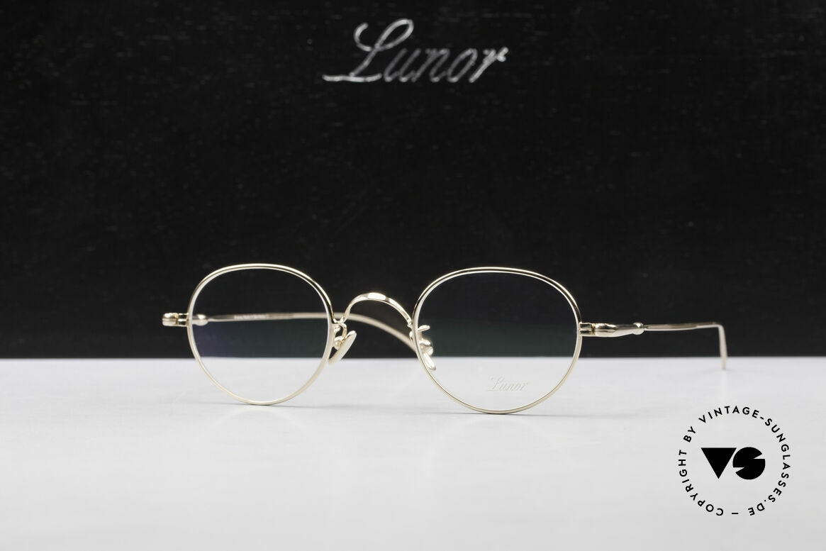 Lunor V 108 Gold Plated Glasses Titanium, Size: medium, Made for Men