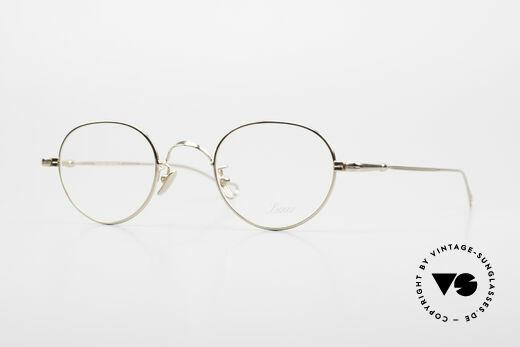 Lunor V 108 Gold Plated Glasses Titanium Details