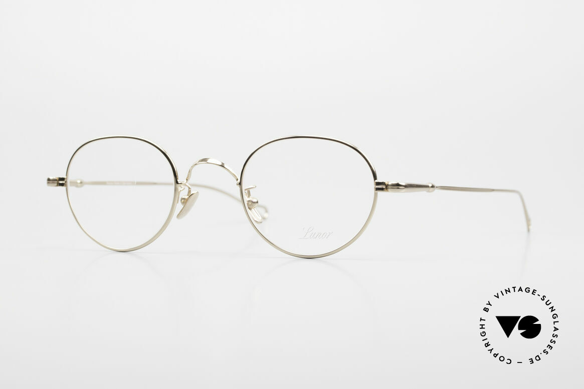 Lunor V 108 Gold Plated Glasses Titanium, LUNOR: honest craftsmanship with attention to details, Made for Men