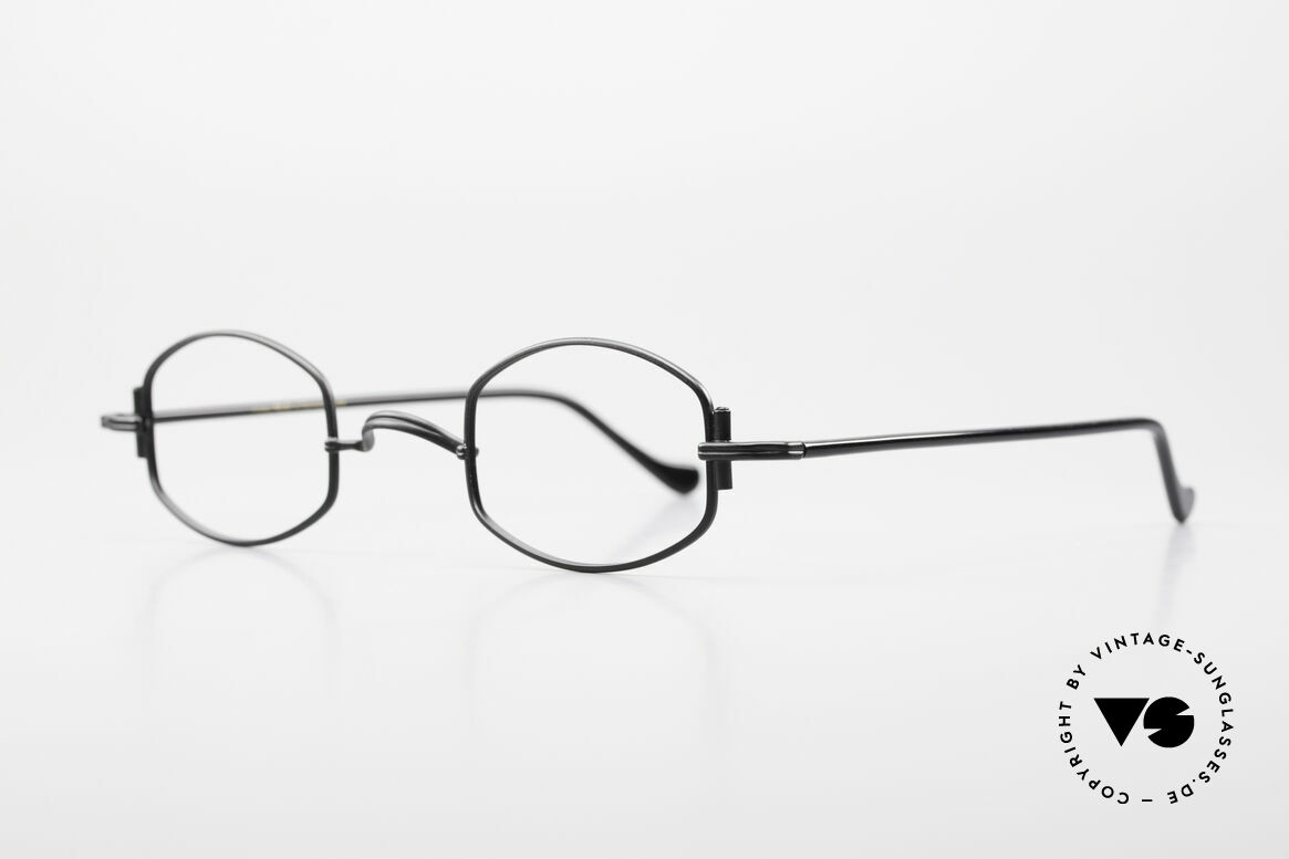 """Lunor XA 03 Rare Old Eyewear Classic, well-known for the """"W-bridge"""" & the plain frame designs, Made for Men and Women"""