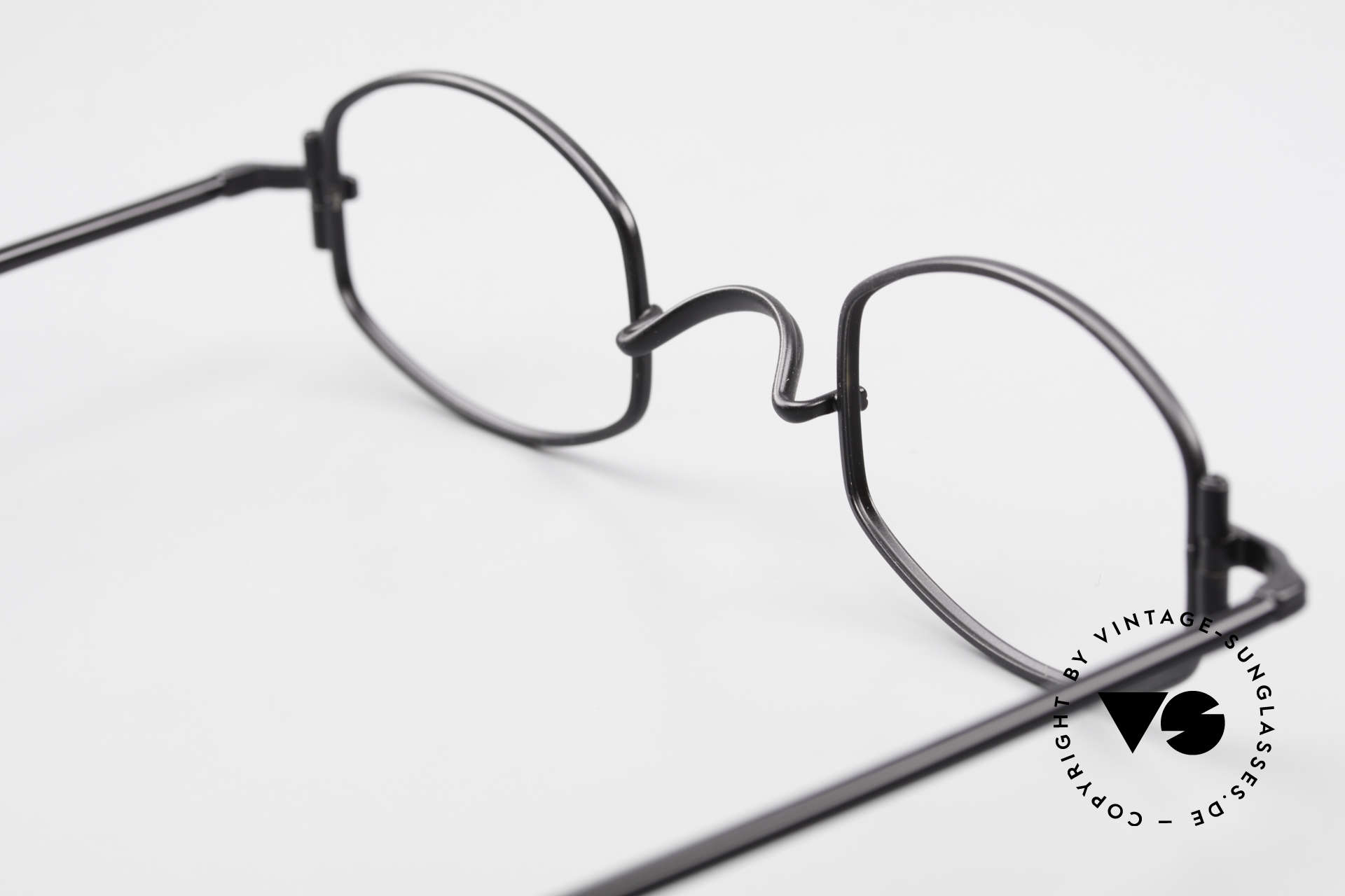 """Lunor XA 03 Rare Old Eyewear Classic, the frame front / frame design looks like a """"LYING TON"""", Made for Men and Women"""