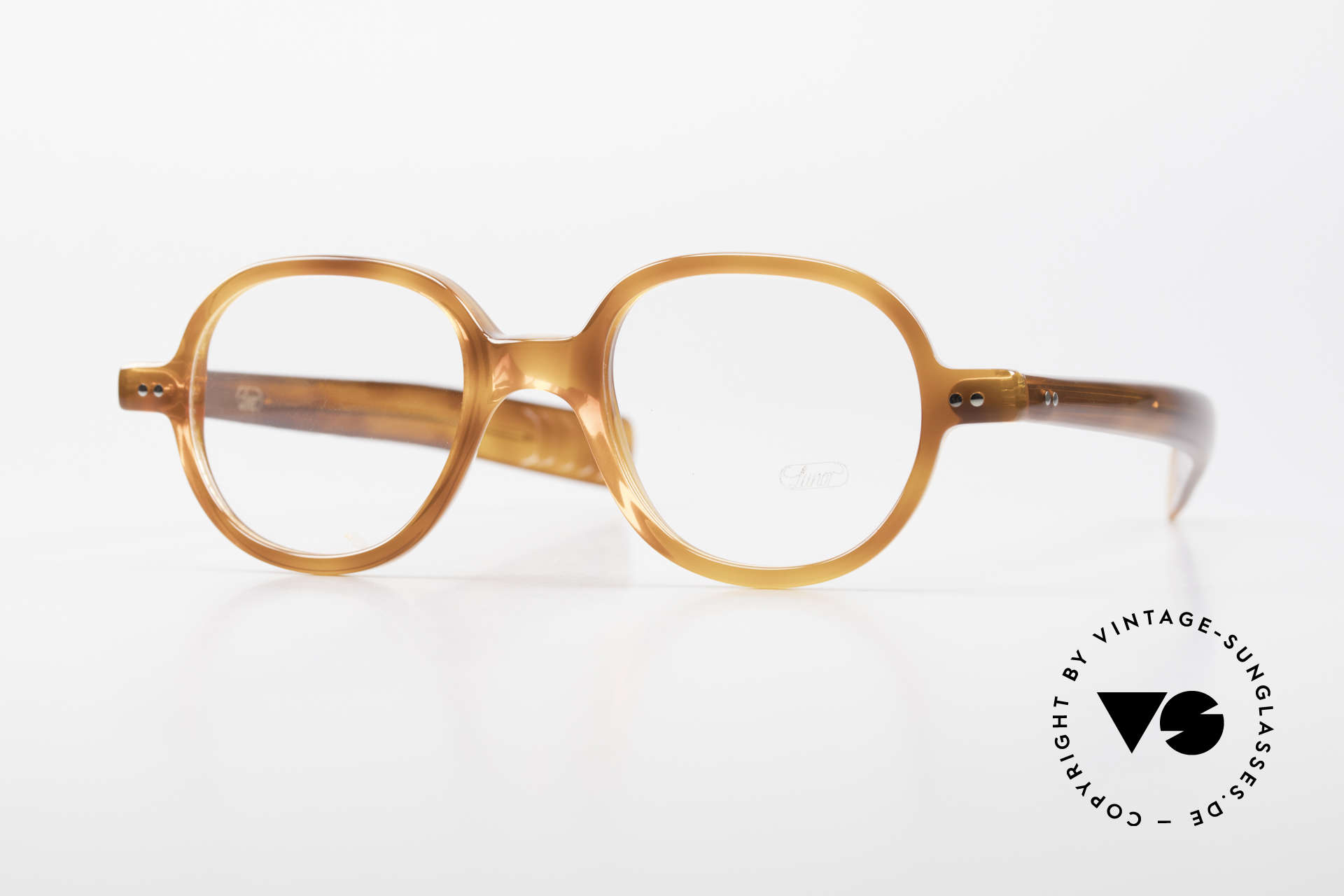 Lunor A50 Round Panto Acetate Glasses, LUNOR glasses, model 50 from the Acetate collection, Made for Men and Women