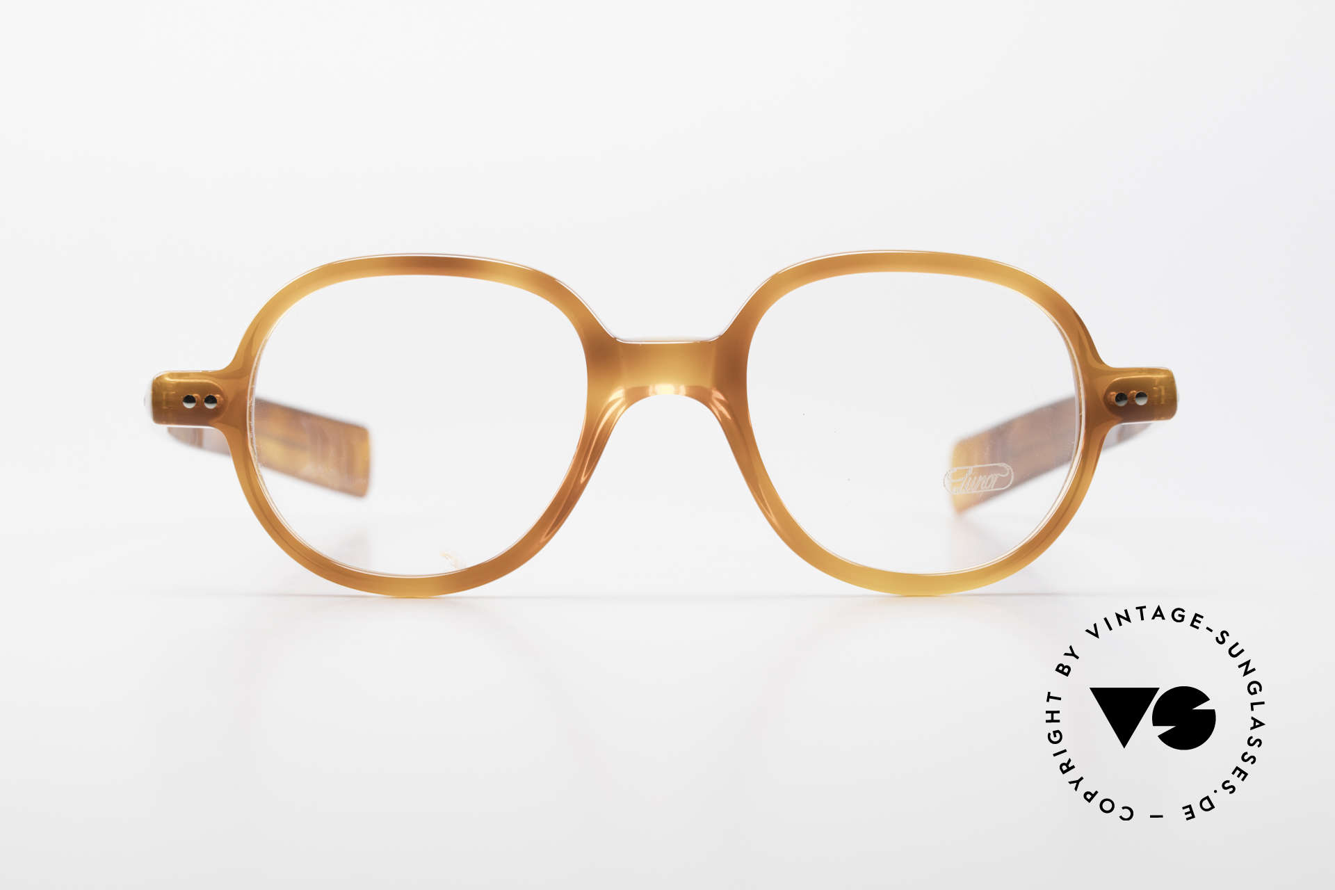 Lunor A50 Round Panto Acetate Glasses, riveted hinges; cut precise to the tenth of a millimeter, Made for Men and Women