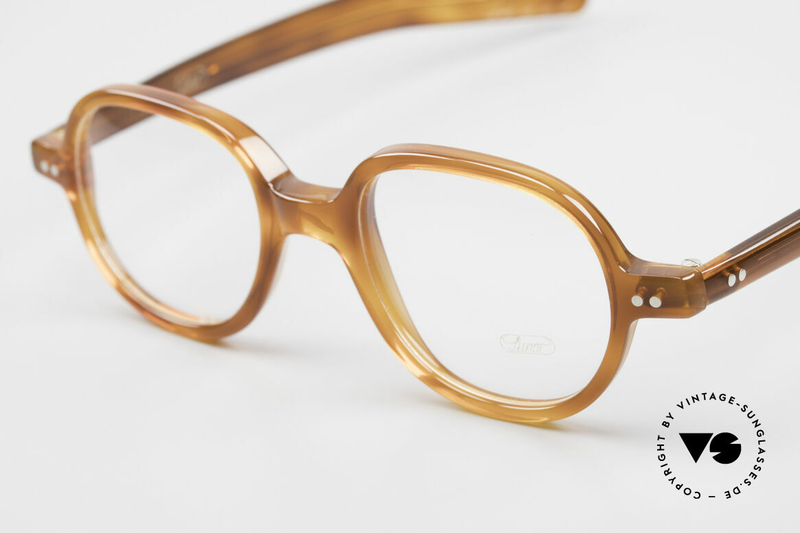 Lunor A50 Round Panto Acetate Glasses, 100% made in Germany, hand-polished, a true CLASSIC, Made for Men and Women