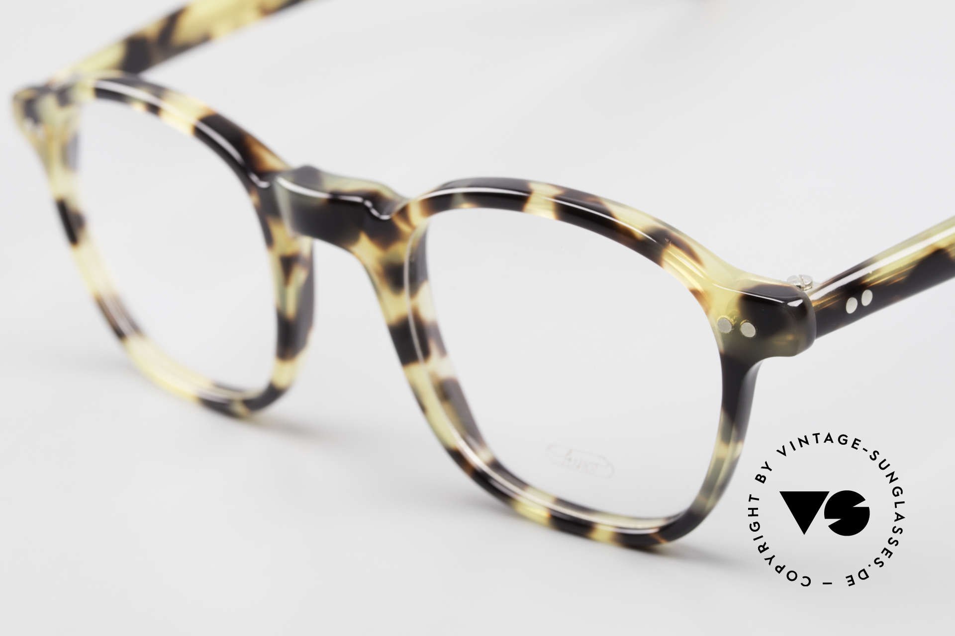 """Lunor A51 Johnny Depp James Dean Specs, classic frame with a stylish """"TOKYO TORTOISE"""" pattern, Made for Men"""