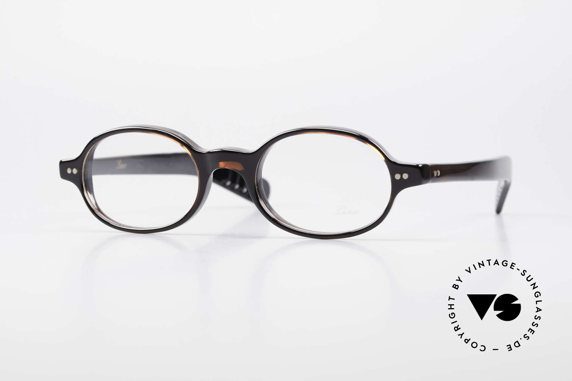 Lunor A57 Oval Lunor Acetate Glasses, mod. 57: oval Lunor glasses from the Acetate collection, Made for Men and Women