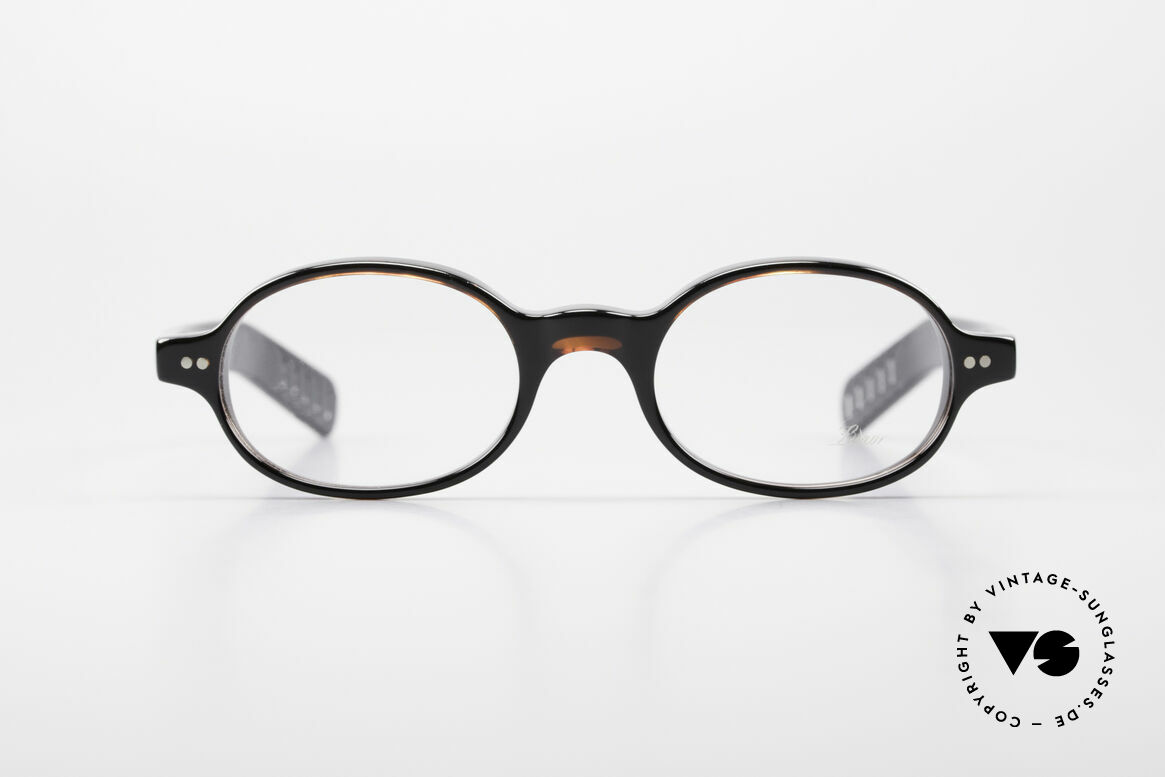 Lunor A57 Oval Lunor Acetate Glasses, riveted hinges; cut precise to the tenth of a millimeter, Made for Men and Women