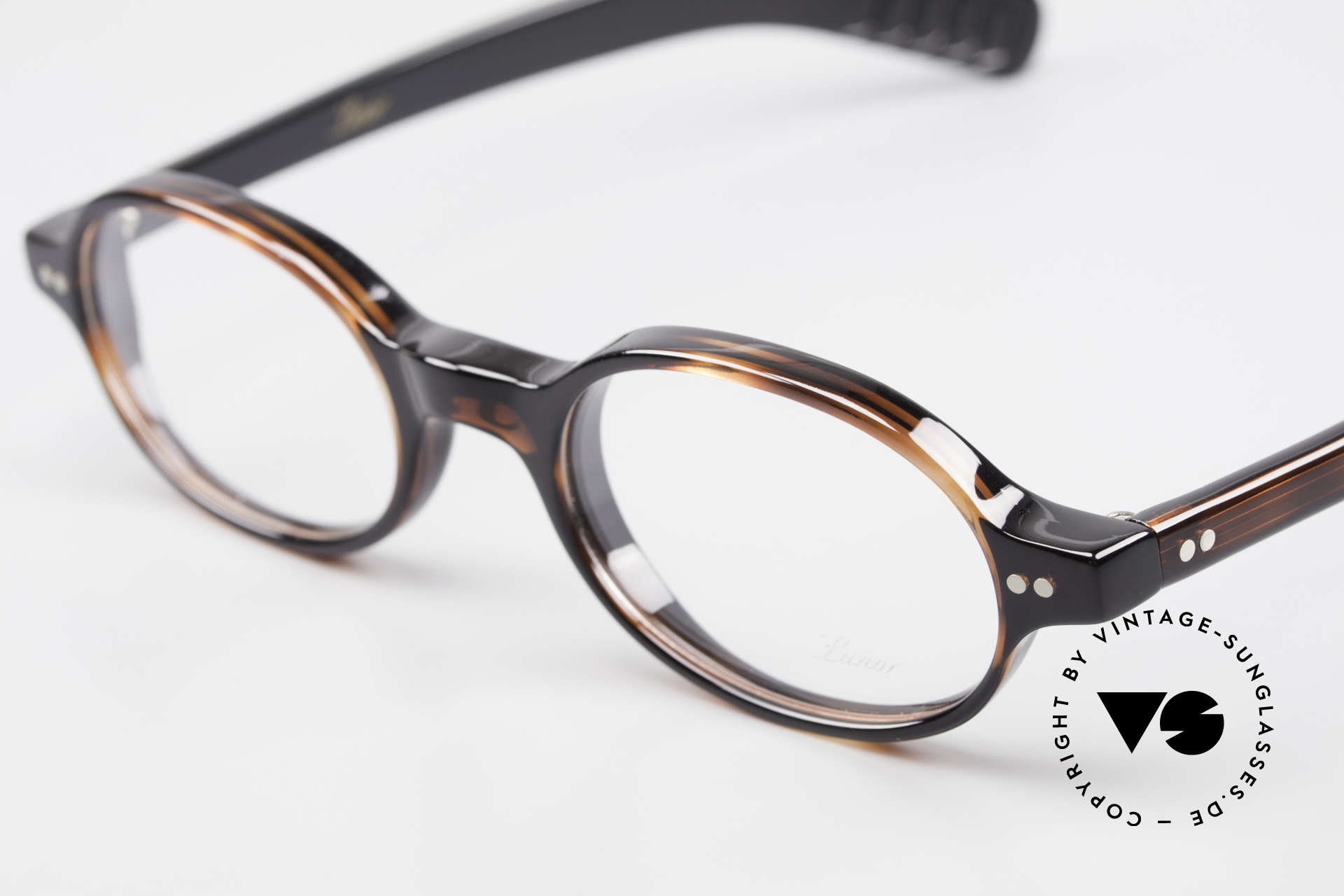 Lunor A57 Oval Lunor Acetate Glasses, 100% made in Germany & hand-polished (a masterpiece), Made for Men and Women