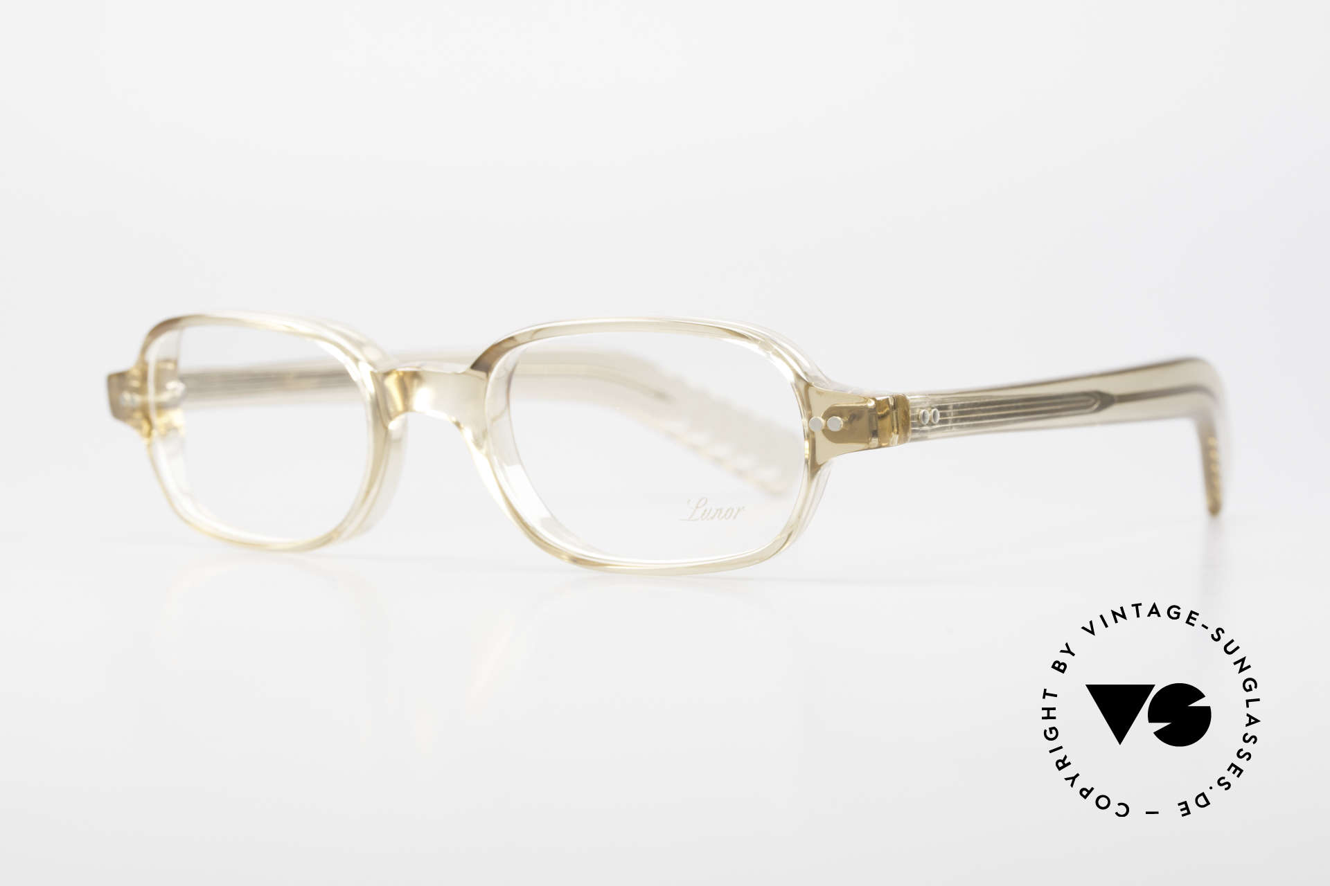 """Lunor A56 Classic Lunor Acetate Glasses, timeless """"crystal"""" frame (UNISEX: for ladies and gents), Made for Men and Women"""