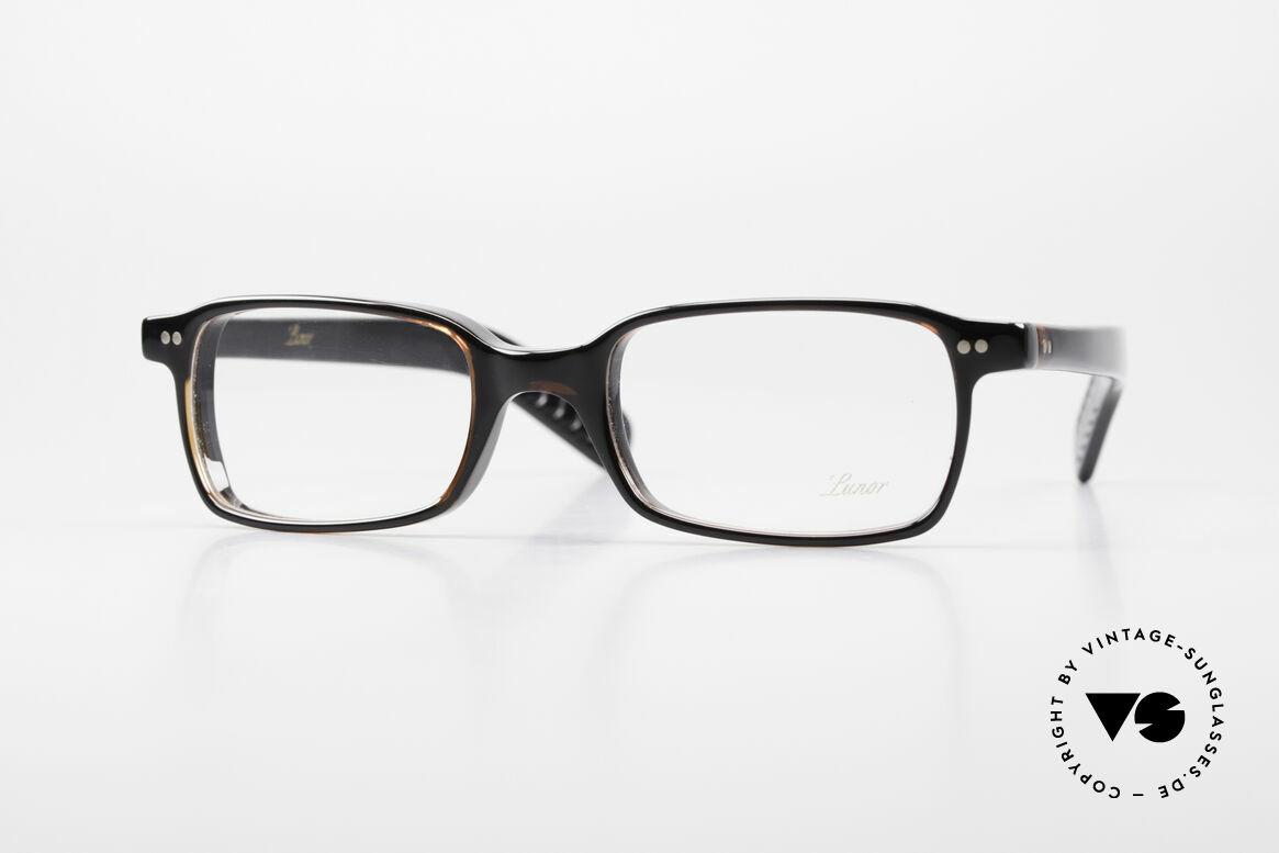 Lunor A55 Square Lunor Glasses Acetate, A 55: square Lunor glasses from the Acetate collection, Made for Men and Women