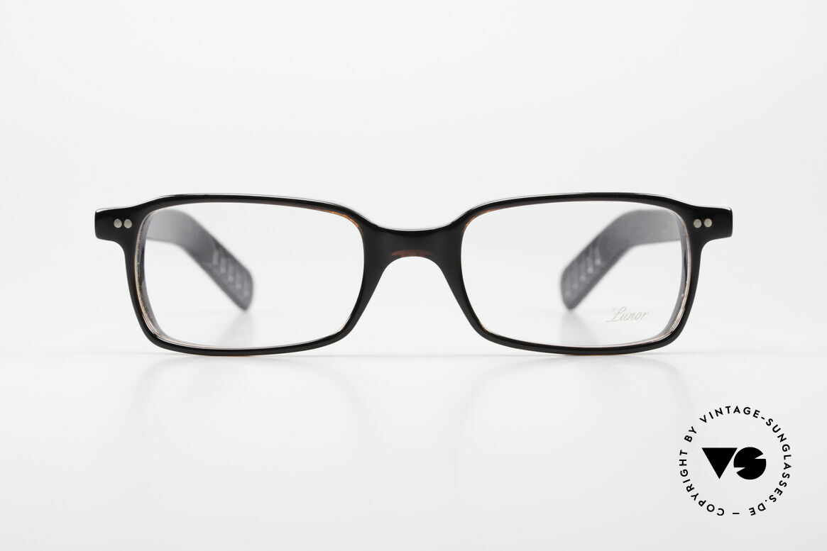 Lunor A55 Square Lunor Glasses Acetate, riveted hinges; cut precise to the tenth of a millimeter, Made for Men and Women