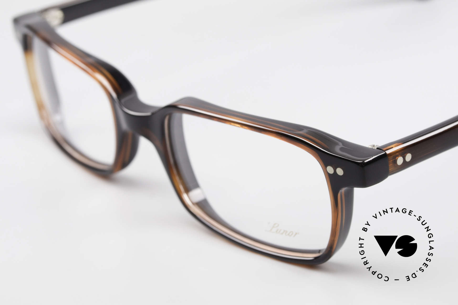 Lunor A55 Square Lunor Glasses Acetate, 100% made in Germany & hand-polished (a masterpiece), Made for Men and Women