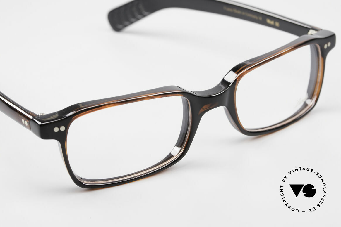 Lunor A55 Square Lunor Glasses Acetate, unworn (like all our vintage Lunor frames & sunglasses), Made for Men and Women