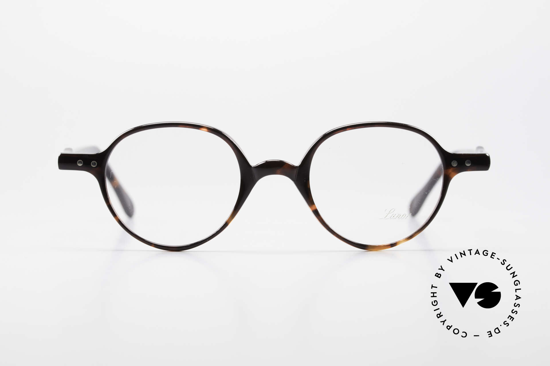 Lunor A43 Panto Acetate Eyeglass-Frame, riveted hinges; cut precise to the tenth of a millimeter, Made for Men and Women