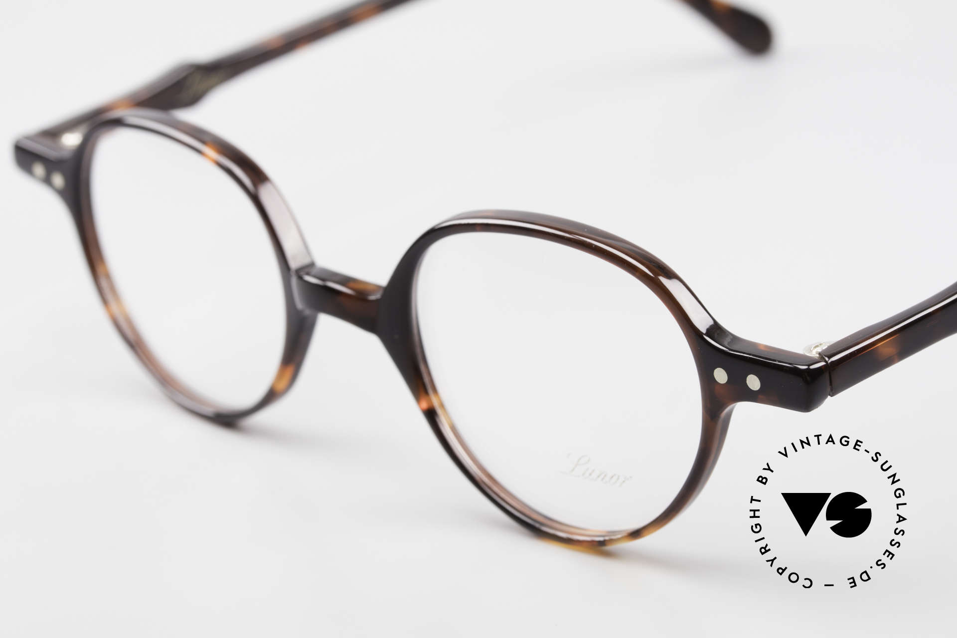 Lunor A43 Panto Acetate Eyeglass-Frame, 100% made in Germany, hand-polished, a true CLASSIC, Made for Men and Women
