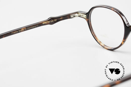Lunor A43 Panto Acetate Eyeglass-Frame, the DEMO lenses should be replaced with prescriptions, Made for Men and Women