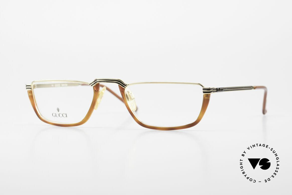 Gucci 1306 Designer Reading Eyeglasses, vintage half-frame design for reading purposes, Made for Men