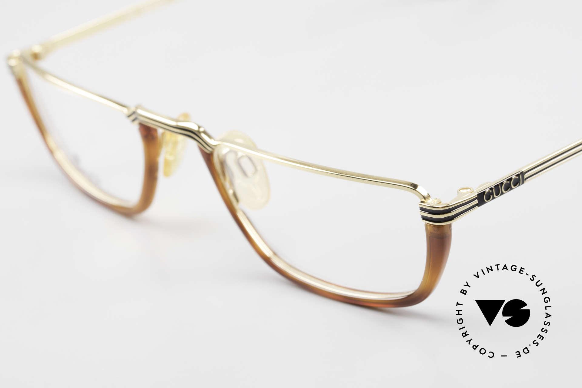 Gucci 1306 Designer Reading Eyeglasses, crafted for ergonomical shift on your nose bridge, Made for Men