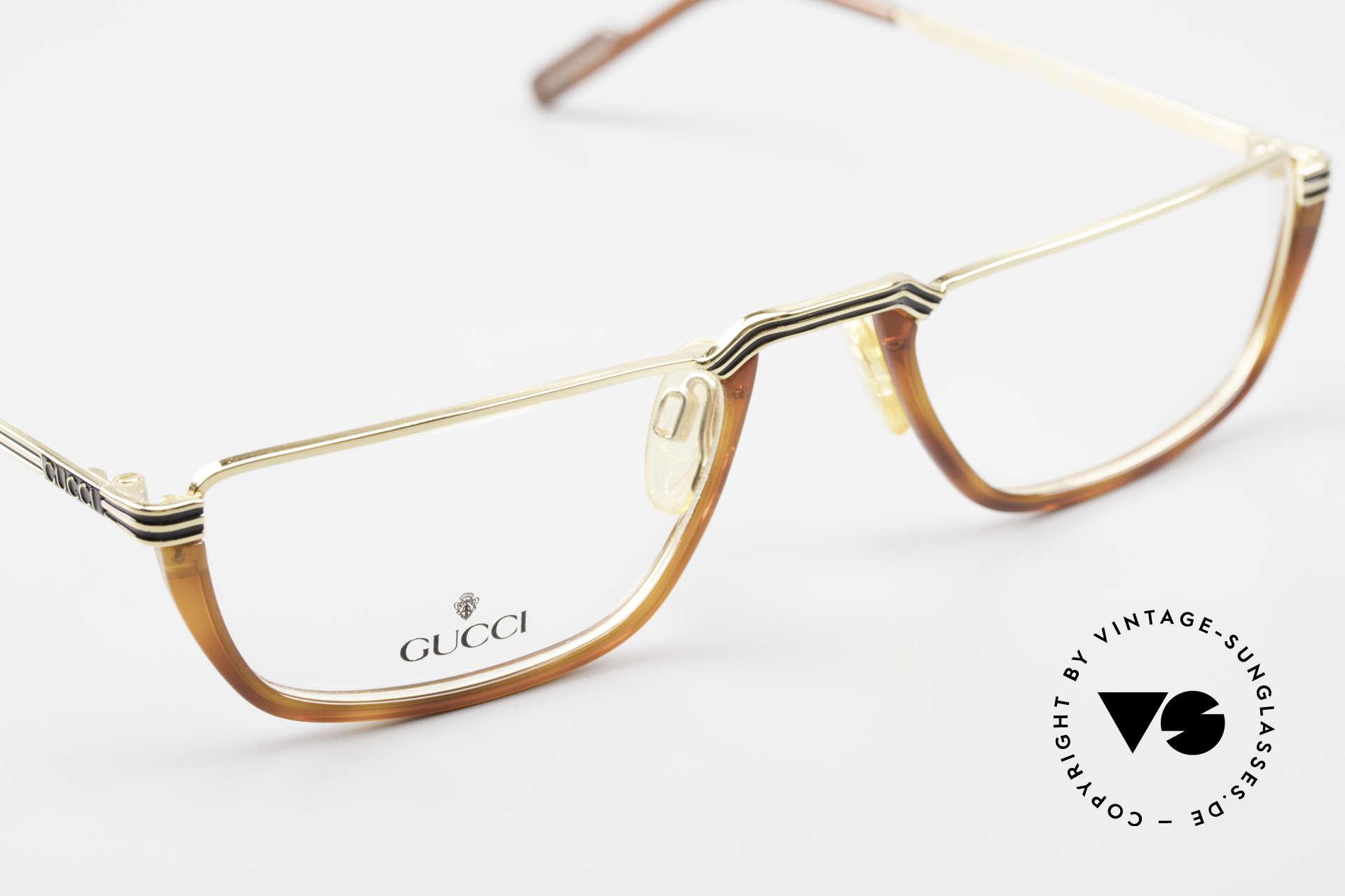 Gucci 1306 Designer Reading Eyeglasses, NO RETRO eyeglasses, but a 30 years old original, Made for Men
