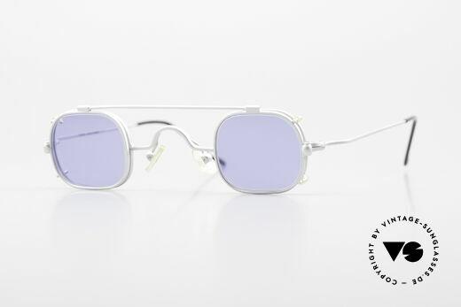 Morel 6090 Square Glasses with Clip-On Details